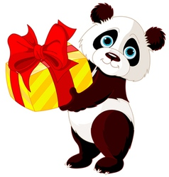 Panda birthday vector