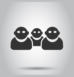 people communication icon in flat style people on vector image