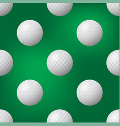 Realistic golf ball icon seamless pattern on vector