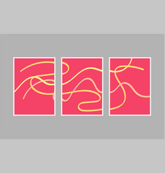 set creative minimalist hand painted for wall vector image