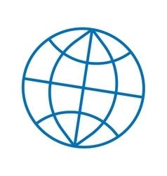 Sign globe 506 vector image
