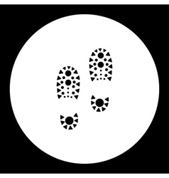 simple black man footprint of shoes black icon vector image