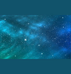 space background blue starry sky deep cosmos vector image
