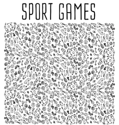 Sport hand drawn seamless pattern vector image vector image
