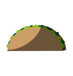 Tacos food flat shadow vector