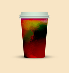 Takeaway watercolor coffee cup vector