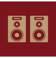 The audio icon Speaker and music sound stereo vector image