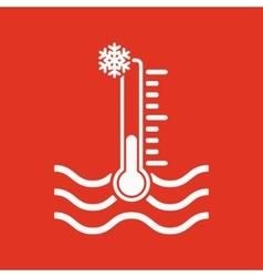 The cold water temperature icon icy liquid symbol vector