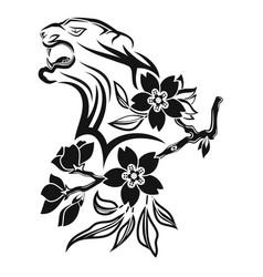 tiger 0010 vector image