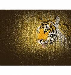 tiger grunge vector image
