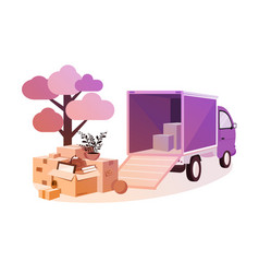 transportation of things during move vector image