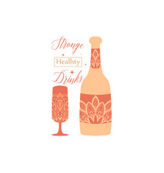 Vintage burnt orange color concept bottle vector