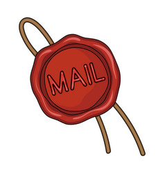 wax sealmail and postman single icon in cartoon vector image