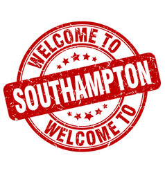 Welcome to southampton red round vintage stamp vector