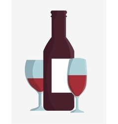 wine bottle design vector image