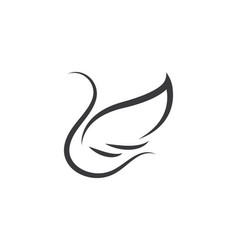 Wings logo symbol icon vector