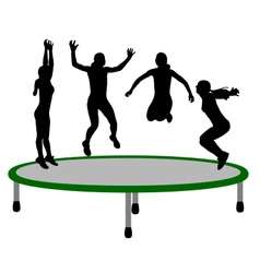 Woman trampoline vector