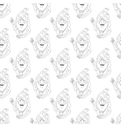 yoga seamless pattern vector image