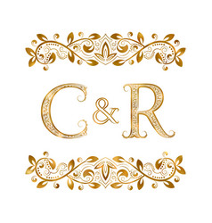 C and r vintage initials logo symbol the letters vector
