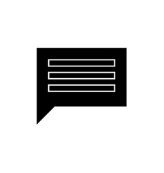 chat simple icon sign o vector image