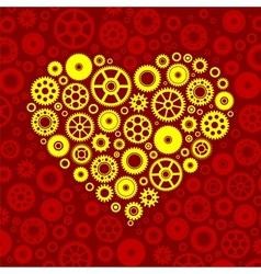 Gears heart vector image