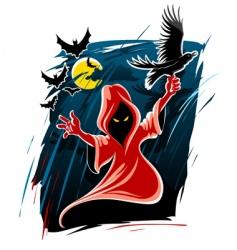 Halloween midnight ghost vector image vector image