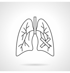 Lungs diseases flat line icon vector image vector image
