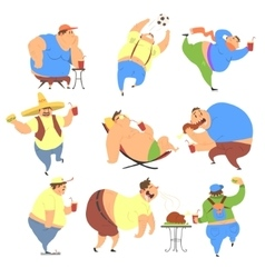 Overweight People Set vector image
