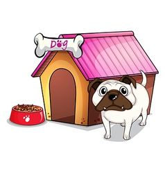 A dog outside the doghouse vector image vector image
