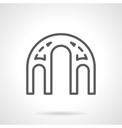 Architectural elements black line icon vector image