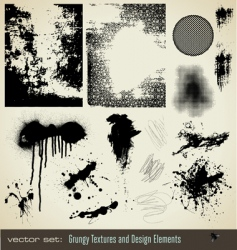 grungy textures and design element vector image