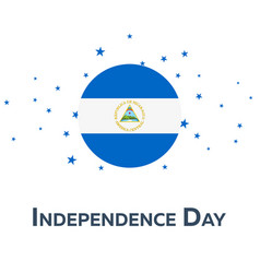 independence day of nicaragua patriotic banner vector image