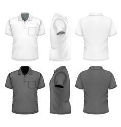 Mens polo-shirt design template vector image