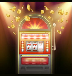 retro slot machine vector image