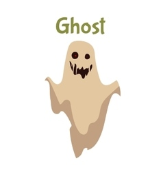 Scary ghost Halloween costume idea vector image