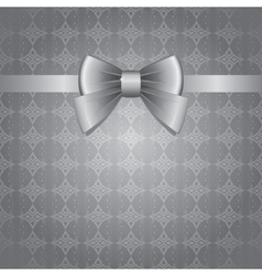 silver bow vector image vector image