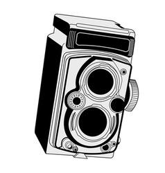 vintage camera vector image vector image