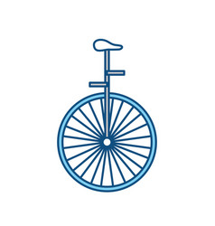 circus unicycle wheel vector image