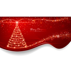 Magic Christmas tree vector image vector image