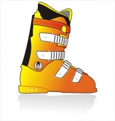 ski sports boot vector image