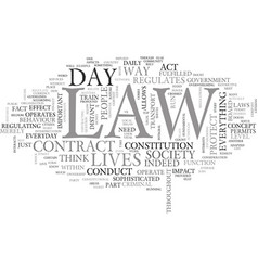 what does the law mean to you text word cloud vector image vector image