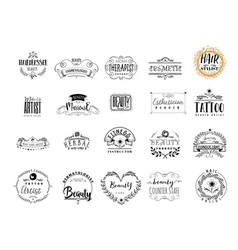 badges professions in the beauty industry sticker vector image
