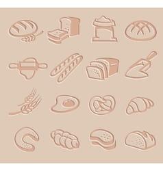 bread icon set vector image