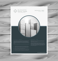 Company business brochure flyer template vector