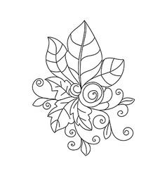 Abstract autumn leaf vector