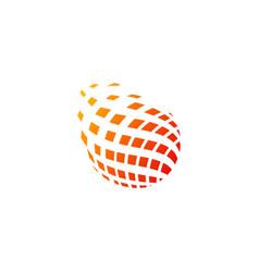 abstract globe digital technology logo vector image