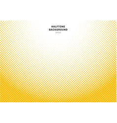 abstract yellow halftone radial effect on white vector image