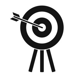 Archery wood target icon simple style vector