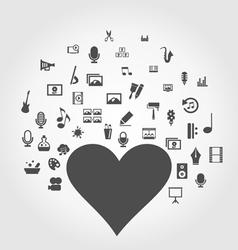 Art heart2 vector