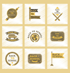 assembly flat shading style icons back to school vector image